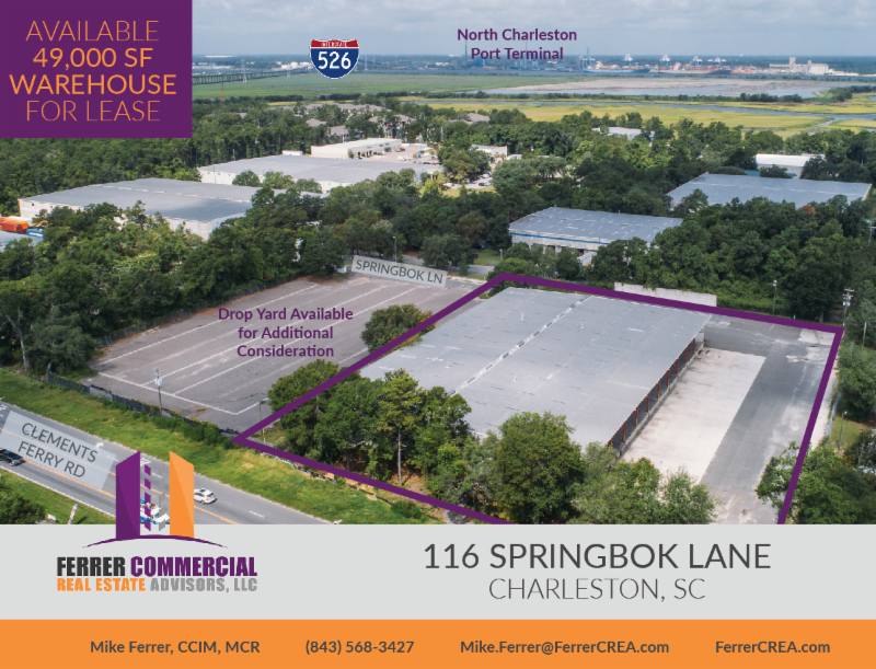 Warehouse for Lease Clement's Ferry Road | Charleston Commercial Real Estate